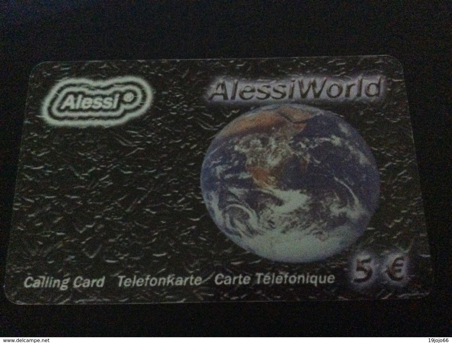 5 € Alessi World - Earth  .    - Little Printed  -   Used Condition - [2] Prepaid