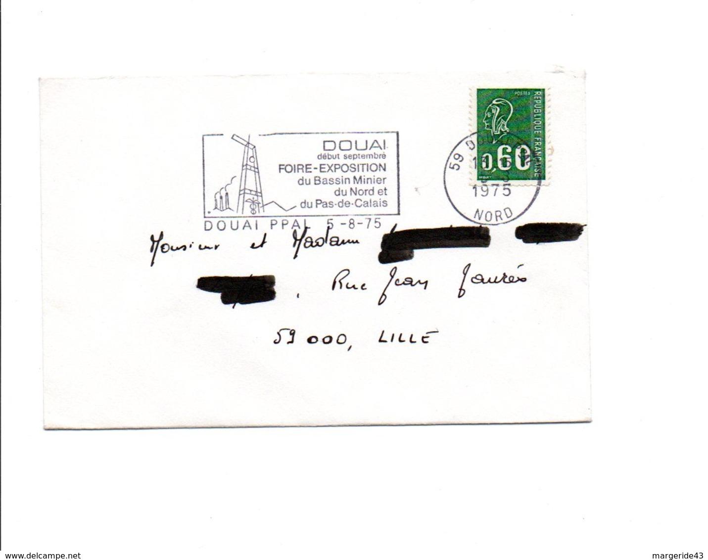 FLAMME FOIRE EXPO DE DOUAI NORD 1975 - Marcophilie (Lettres)