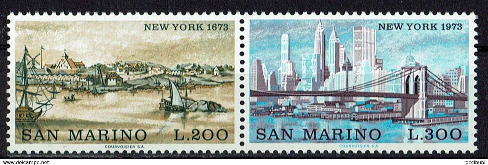 San Marino 1973 // Mi. 1025/1026 ** Paar (024..418) - Ungebraucht