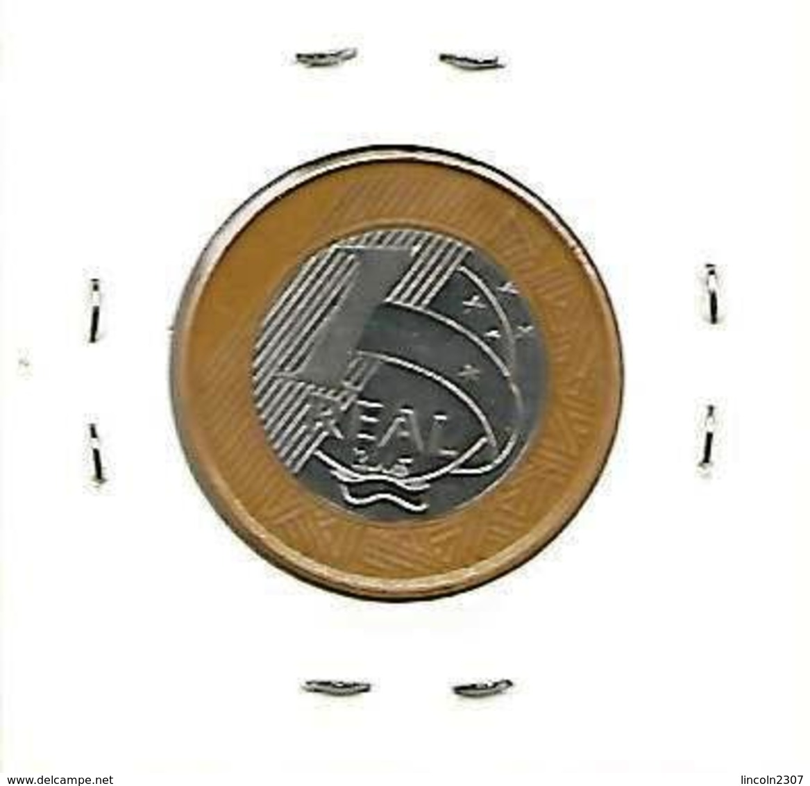 BRAZIL 1 REAL - 40 YEARS OF THE CENTRAL BANK COMMEMORATIVE COIN - 2005 - Brazil