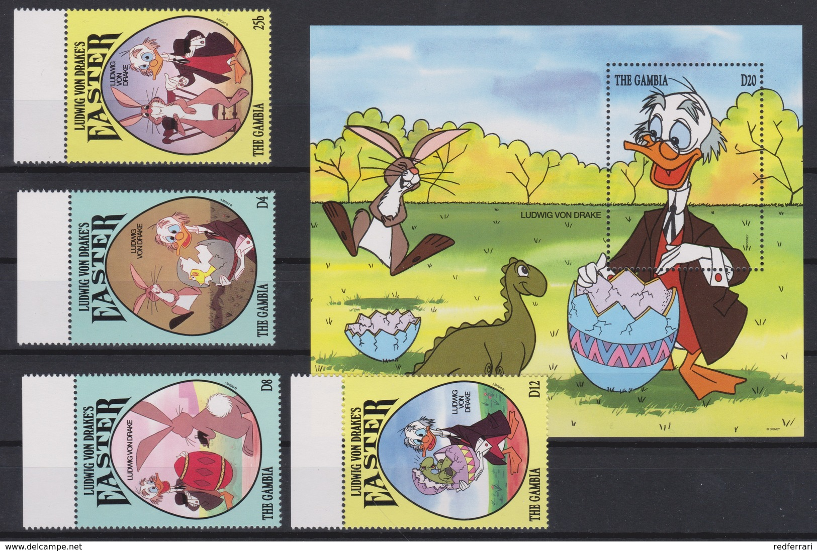2196  WALT DISNEY   The GAMBIA  ( EASTER I ) Ludwig Von Drake's - The Zaster Of Professor Crazy Donald . - Disney