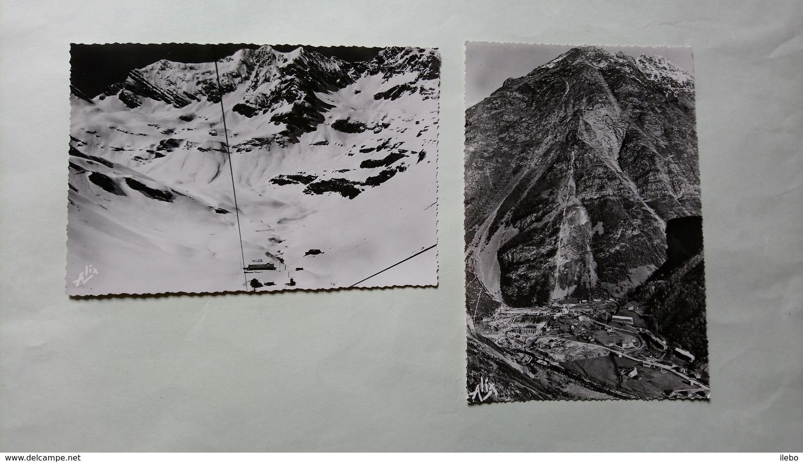 Lot 2 Cartes Pragnères Aménagement Hydroélectrique Chantier De Galerie à Aspé Près De Gavarnie Usine - Unclassified