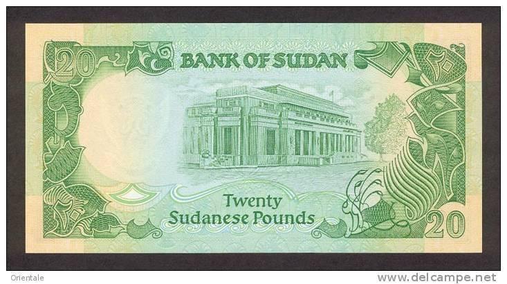 SUDAN P. 42b 20 P 1989 UNC - Soudan