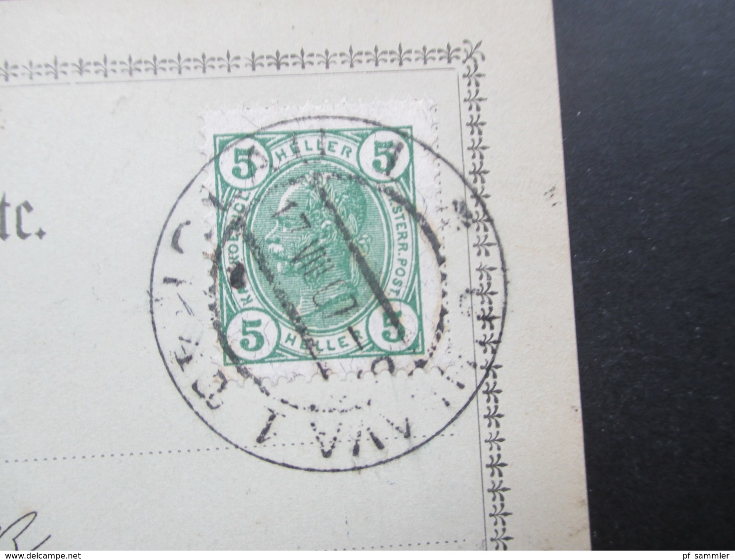 Österreich 1907 Postkarte Erste Iglauer Spiritus Raffinerie Liqueur Und Essigsprit Fabrik Weiss & Feldmann - Briefe U. Dokumente