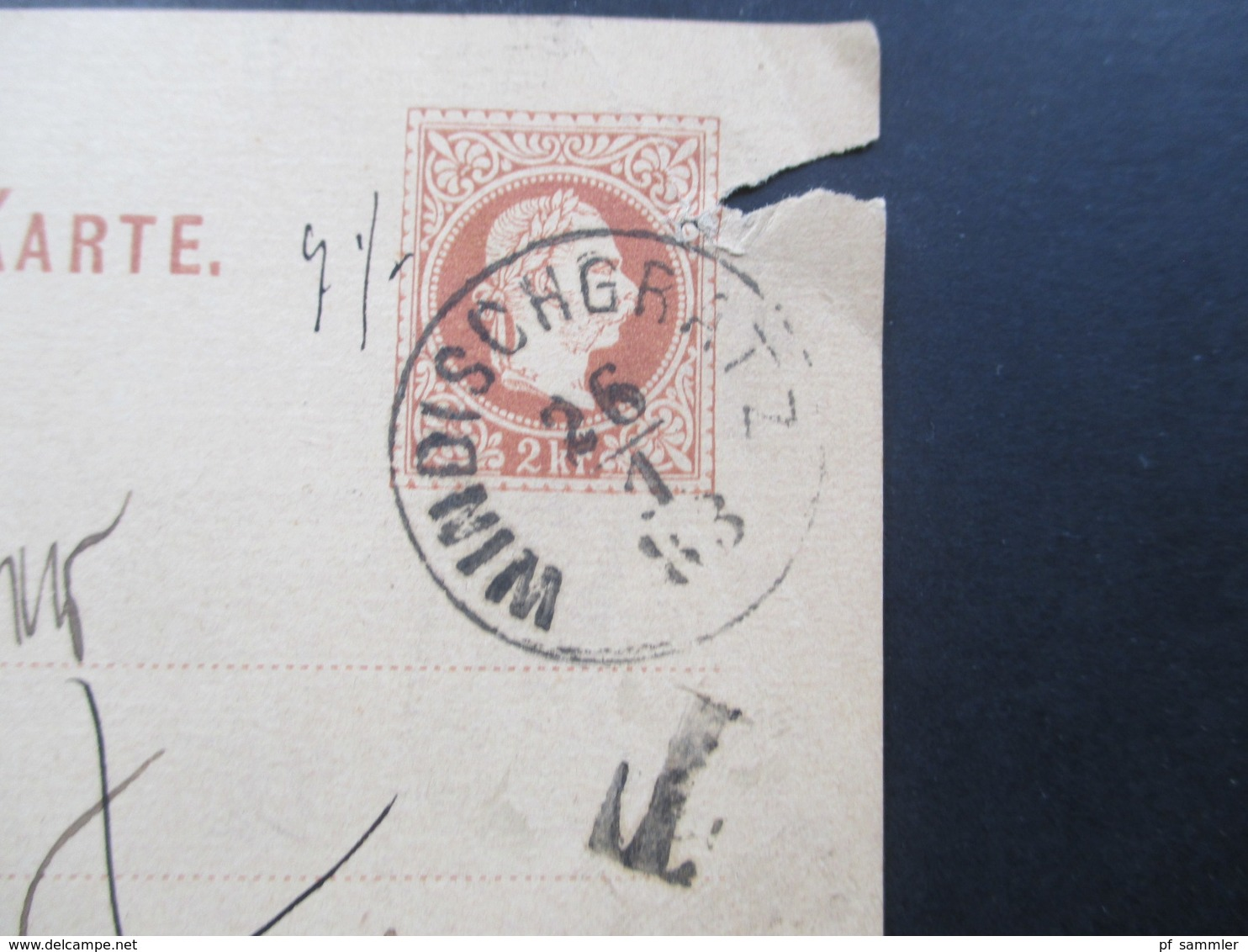 Österreich 1883 GA (Slov.) Nach Neapel Mit Nachtaxierung T-Stempel Und Italienischen Portomarken! Windischgratz - 1850-1918 Imperium