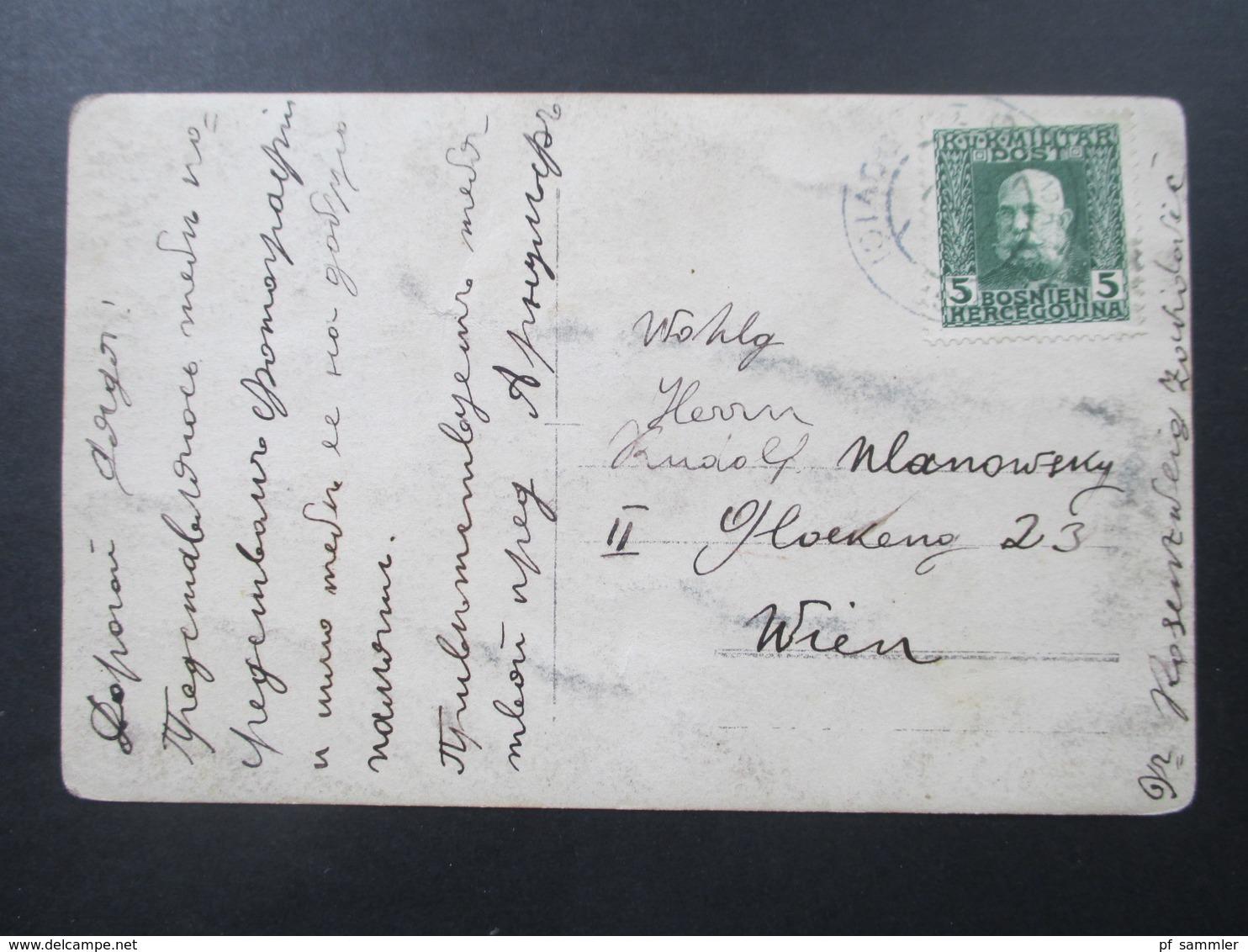 Österreich / Bosnien Um 1912 Nr. 67 EF Auf Echtfoto Postkarte. Baby / Kleinkind Im Hochstuhl - Briefe U. Dokumente