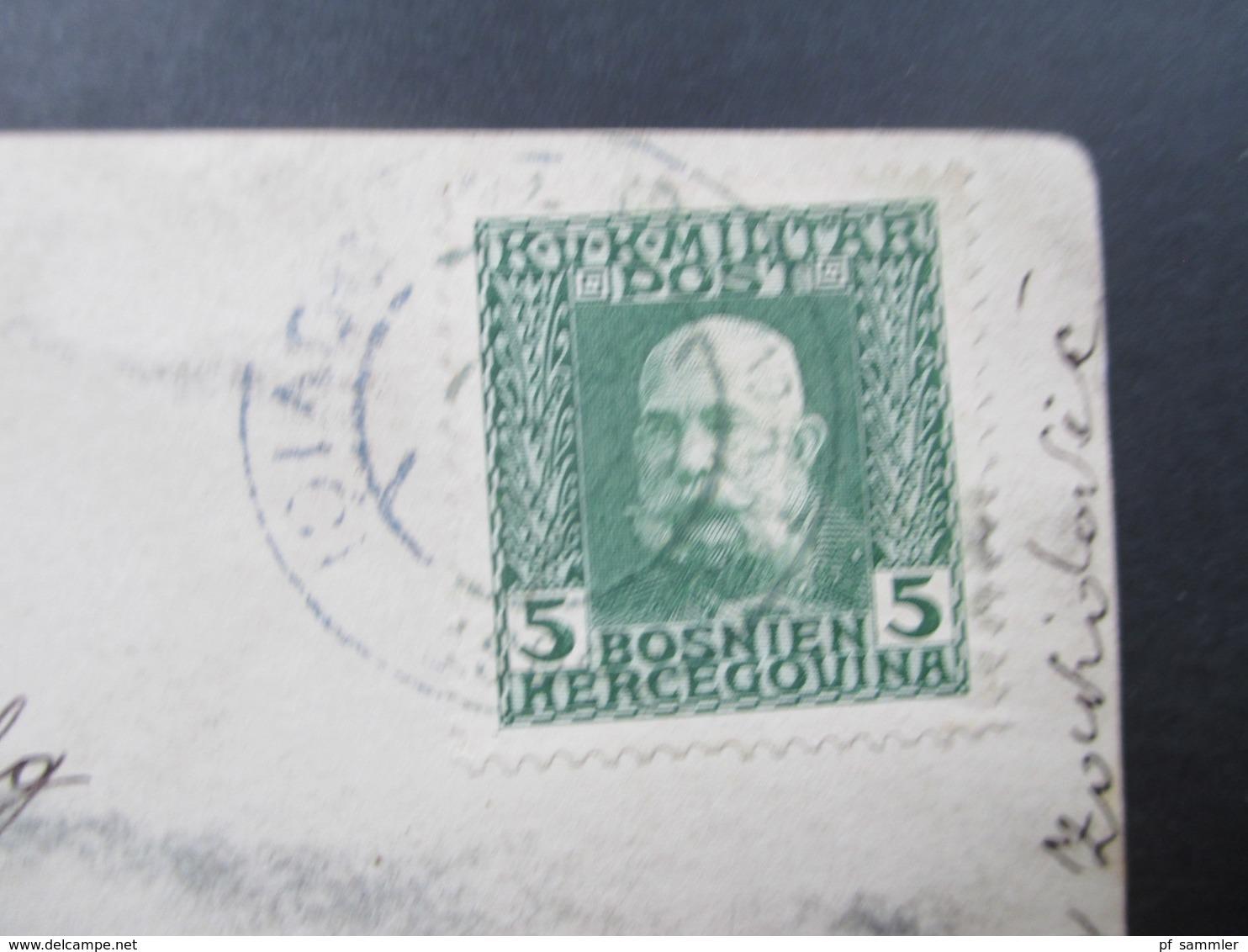 Österreich / Bosnien Um 1912 Nr. 67 EF Auf Echtfoto Postkarte. Baby / Kleinkind Im Hochstuhl - 1850-1918 Imperium