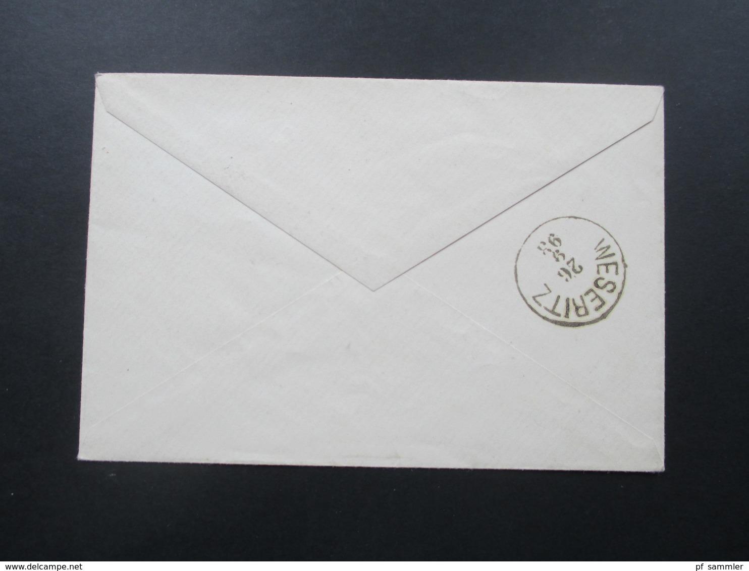 Österreich 1893 Nr. 51 EF Nach Weseritz Mit Ankunftsstempel! Kleiner Brief 12,5x8,5cm - 1850-1918 Imperium
