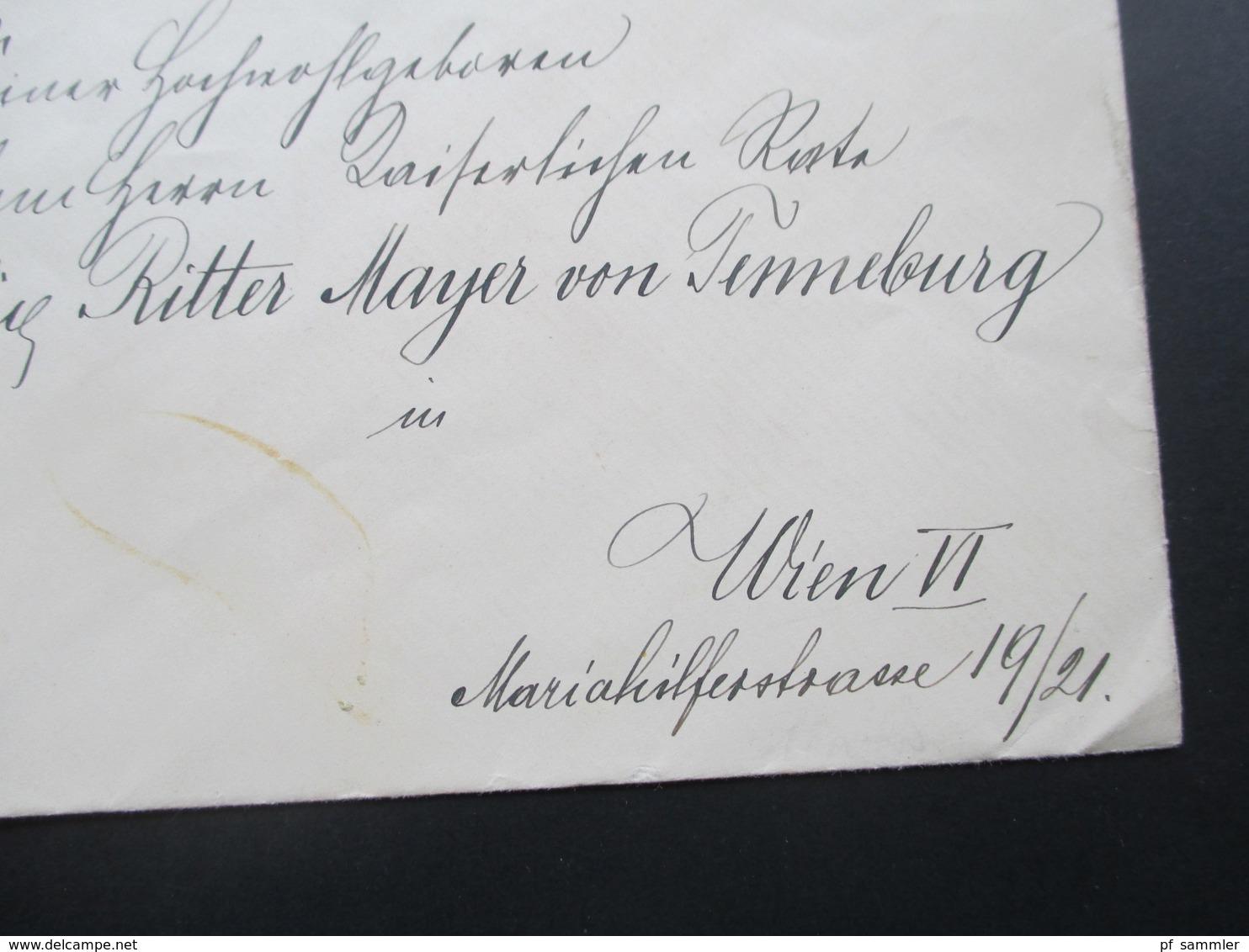 Österreich 1917 Erzherzoglich Rainer'sches Sekretariat An: Felix Ritter Mayer Von Tenneburg. Öst. Touring Club - 1850-1918 Imperium