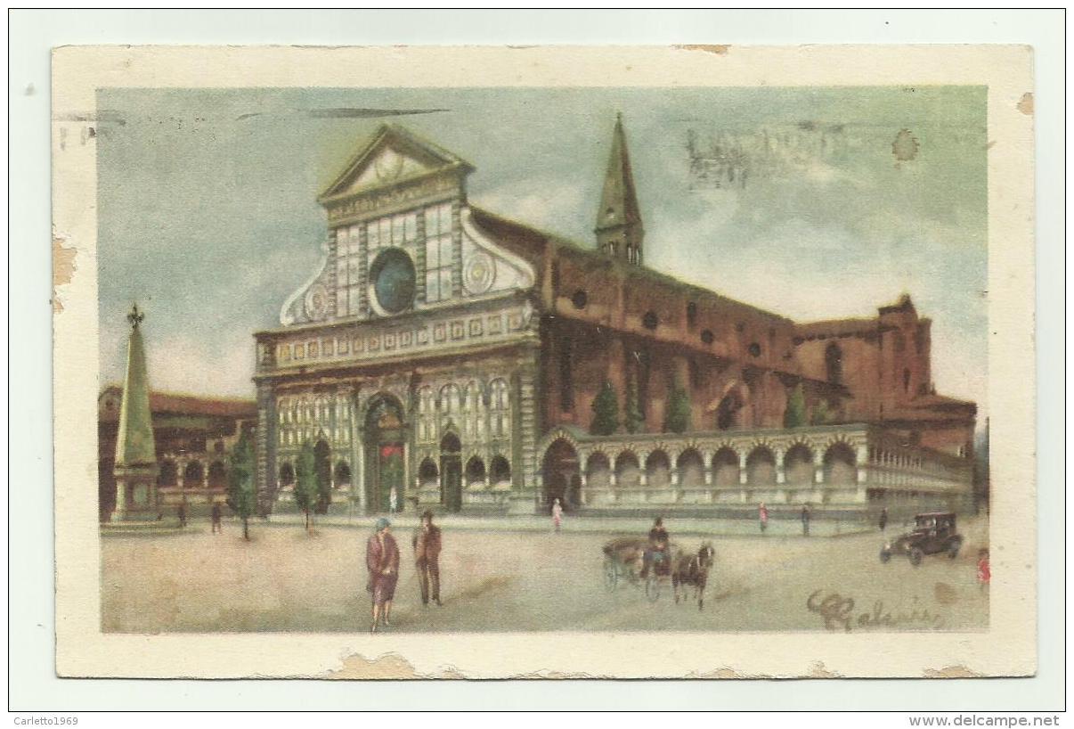 FIRENZE - PIAZZA E CHIESA DI S.MARIA NOVELLA ILLUSTRATA GALEAZZI  - VIAGGIATA FP - Firenze