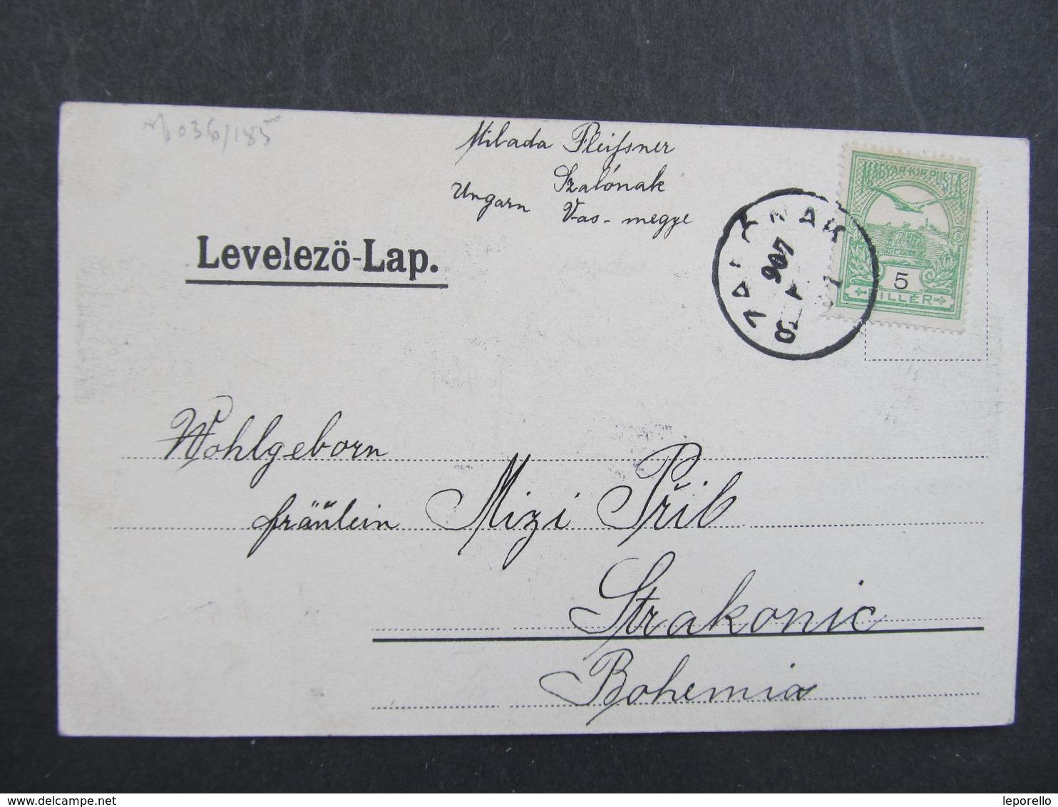 AK SCHLAINING STADTSCHLAINING B. Oberwart Varos Szalonak 1907 //  D*32520 - Österreich