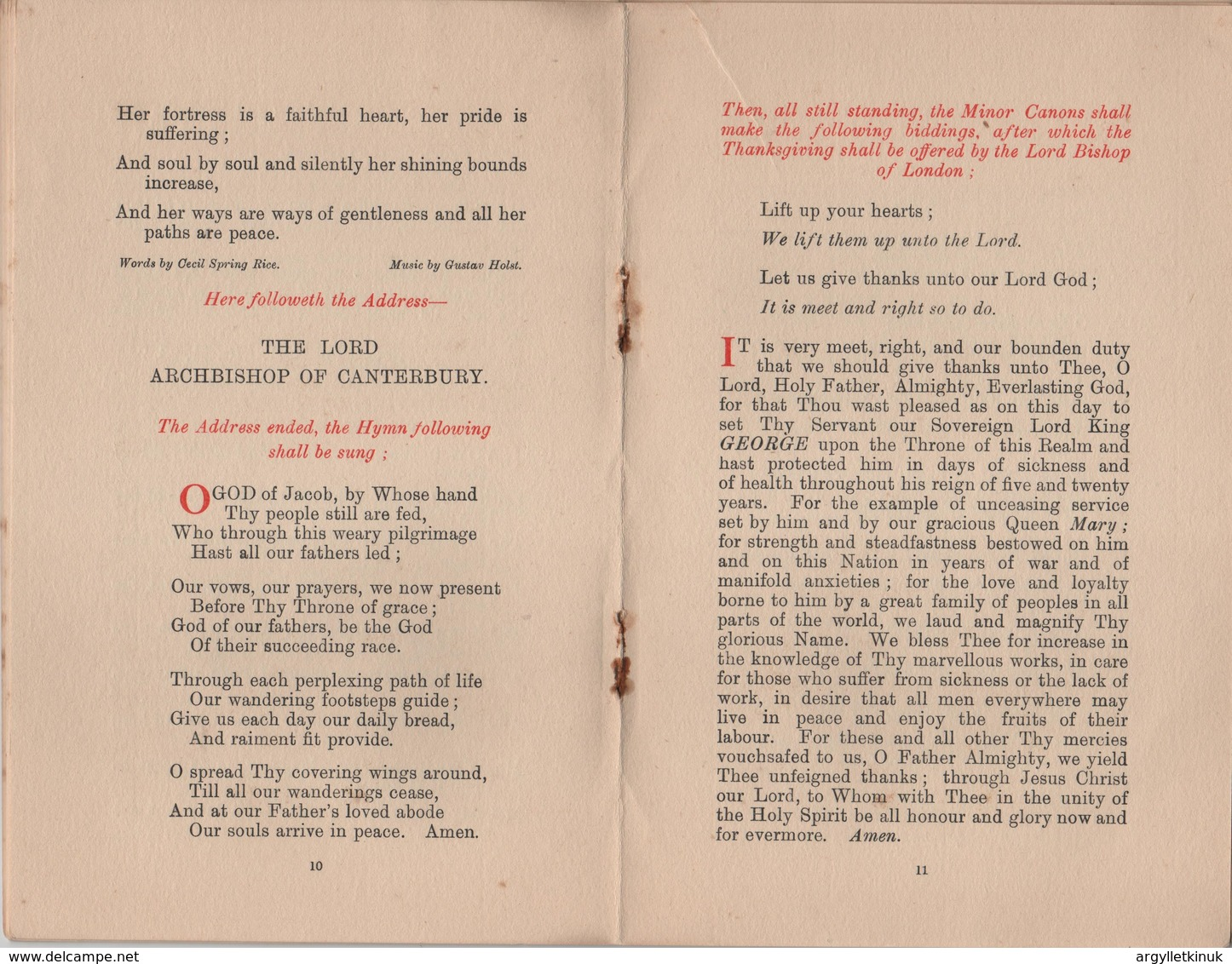 SILVER JUBILEE ST PAULS CATHEDRAL PROGRAMME 1935 - Programs