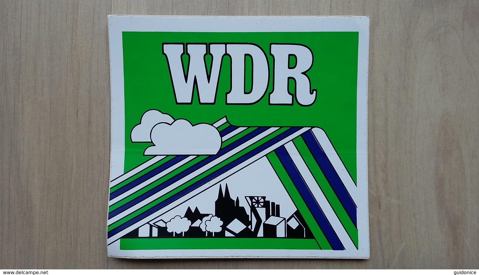 Aufkleber Mit Werbung Für Den WDR (Rundfunksender) - Autocollants