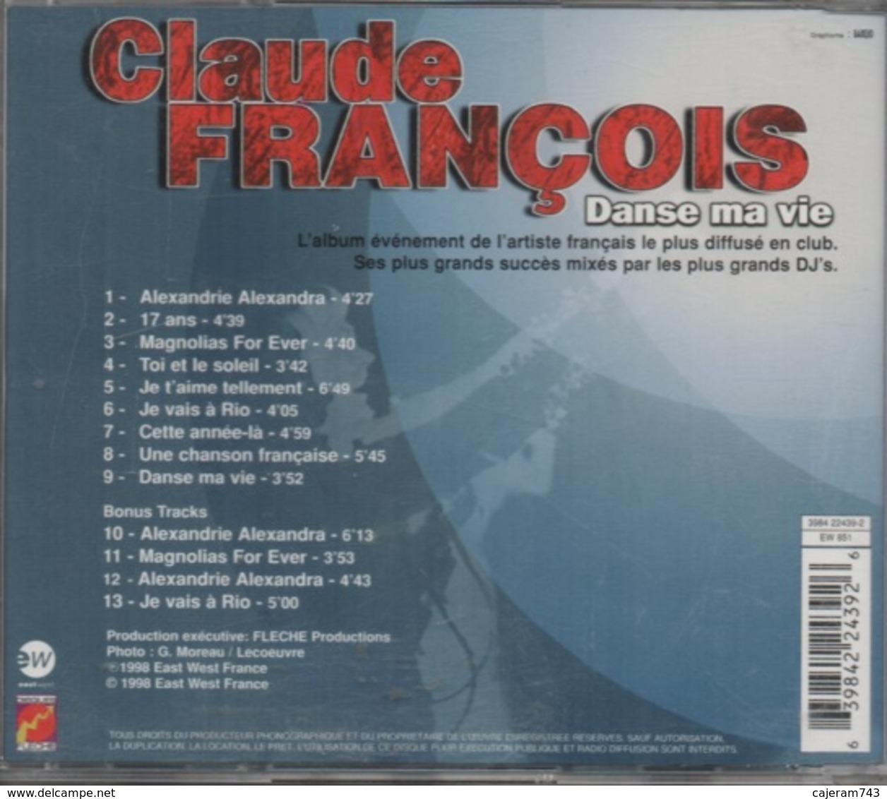 CD. Claude FRANCOIS. Danse Ma Vie - 13 Titres - Production : DISQUES FLECHE - - Musicals