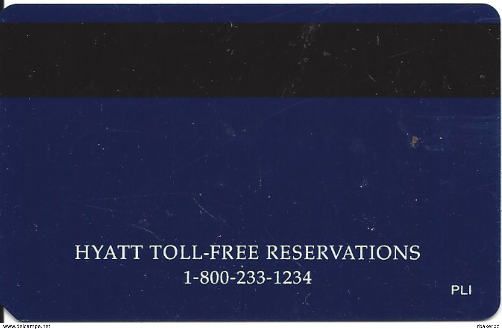 Hyatt Hotel Room Key Card With PLI On Reverse - Hotel Keycards