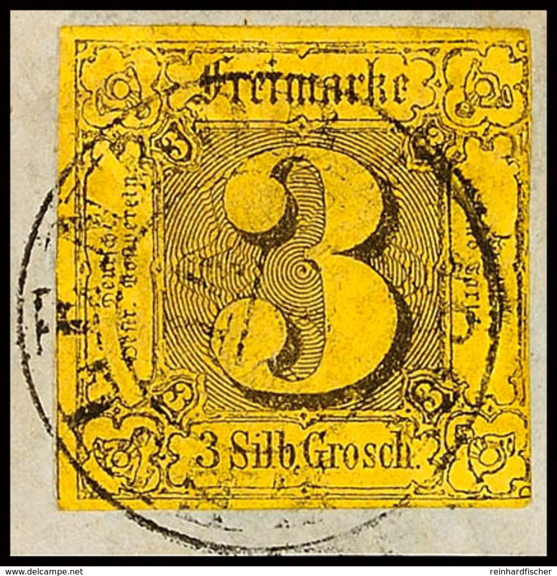 """2957 """"ZEULENRODA"""" - K2, Lesbar Auf Briefstück Mit Meist Voll- Bis Breitrandiger 3 Sgr., Katalog: 6a BS - Thurn And Taxis"""