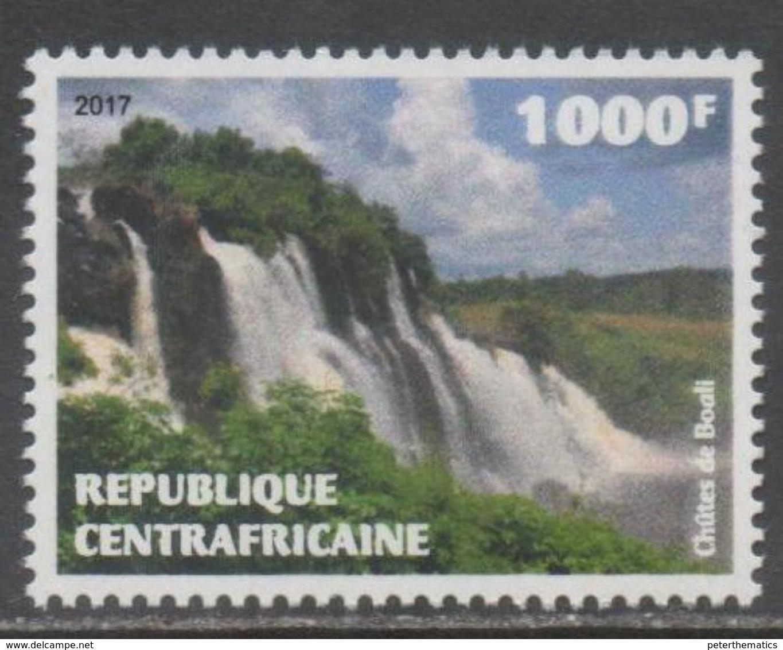 CENTRAL AFRICAN REPUBLIC, CAR,  2017, MNH , WATERFALLS, BOALI FALLS, 1v - Geology