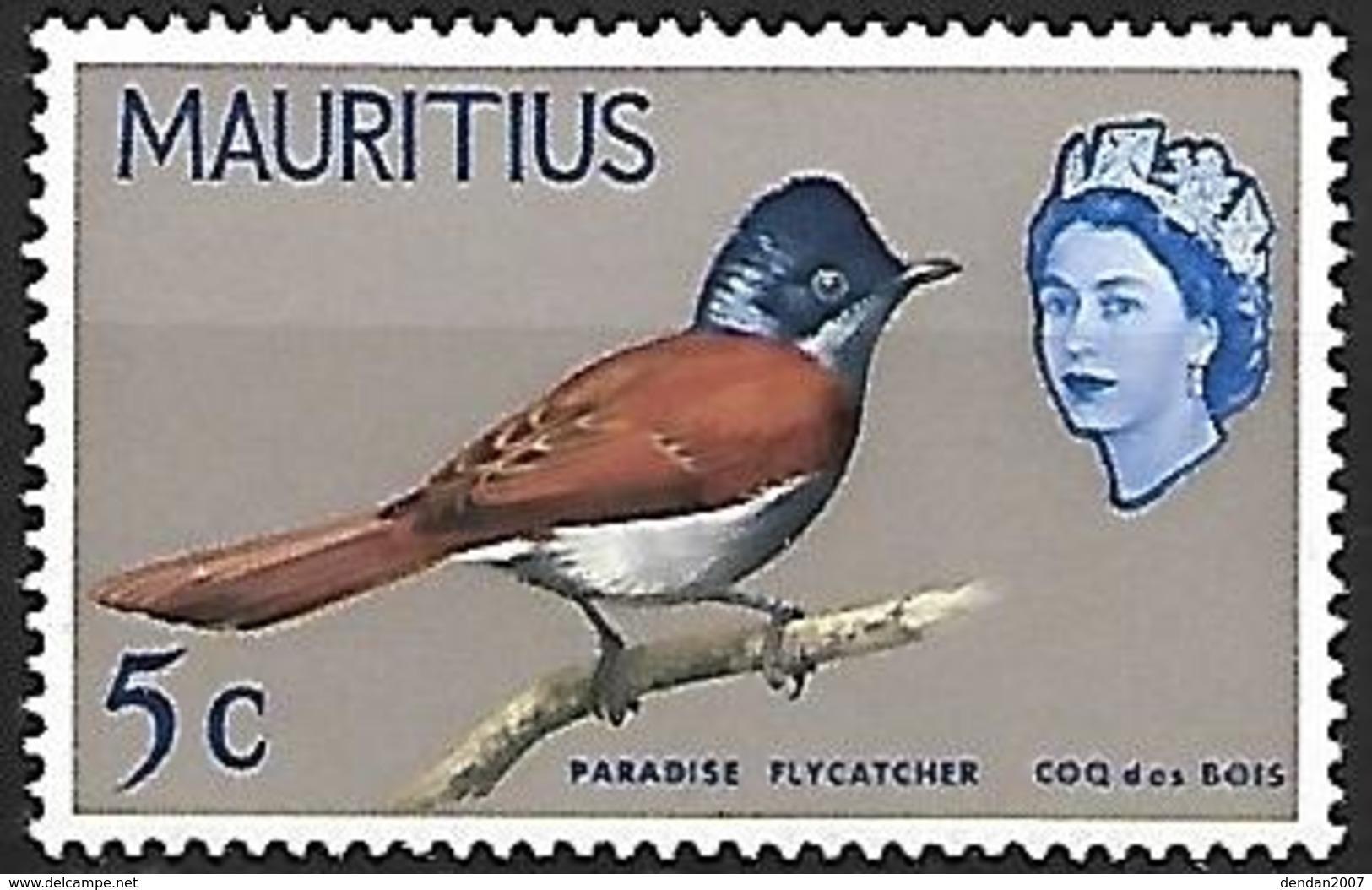 Mauritius 1965 - MNH - Mascarene Paradise Flycatcher (Terpsiphone Bourbonnensis) - Passereaux