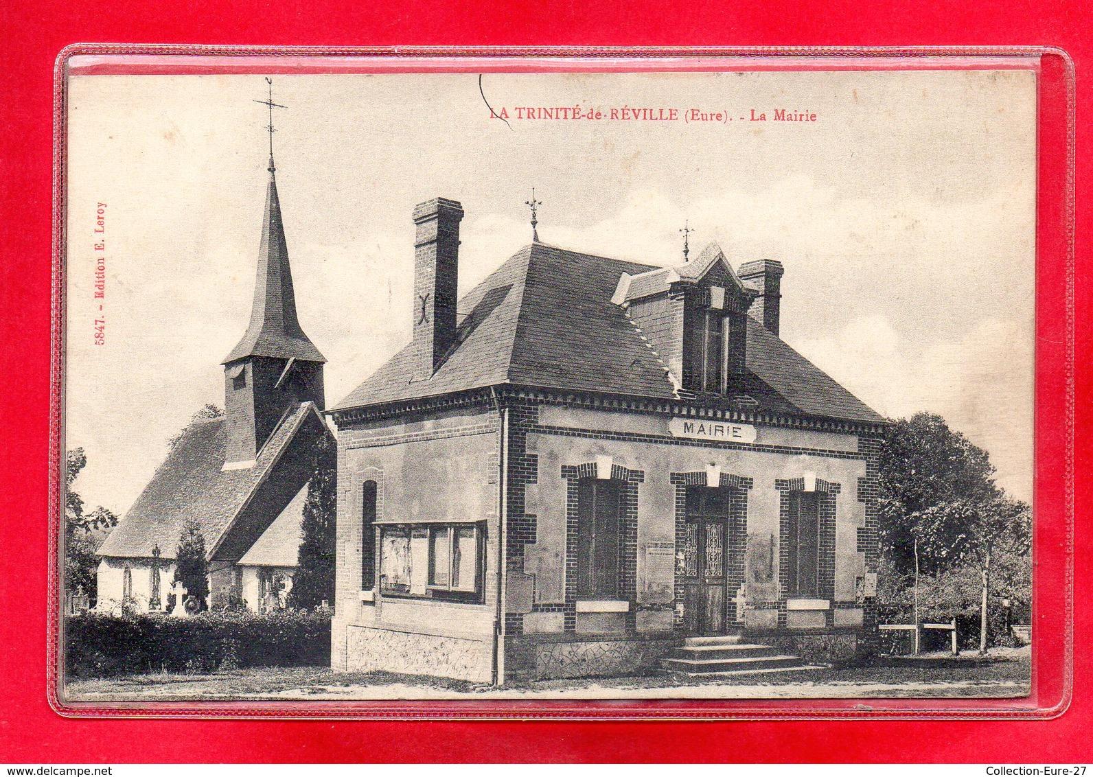 27-CPA LA TRINITE DE REVILLE - France