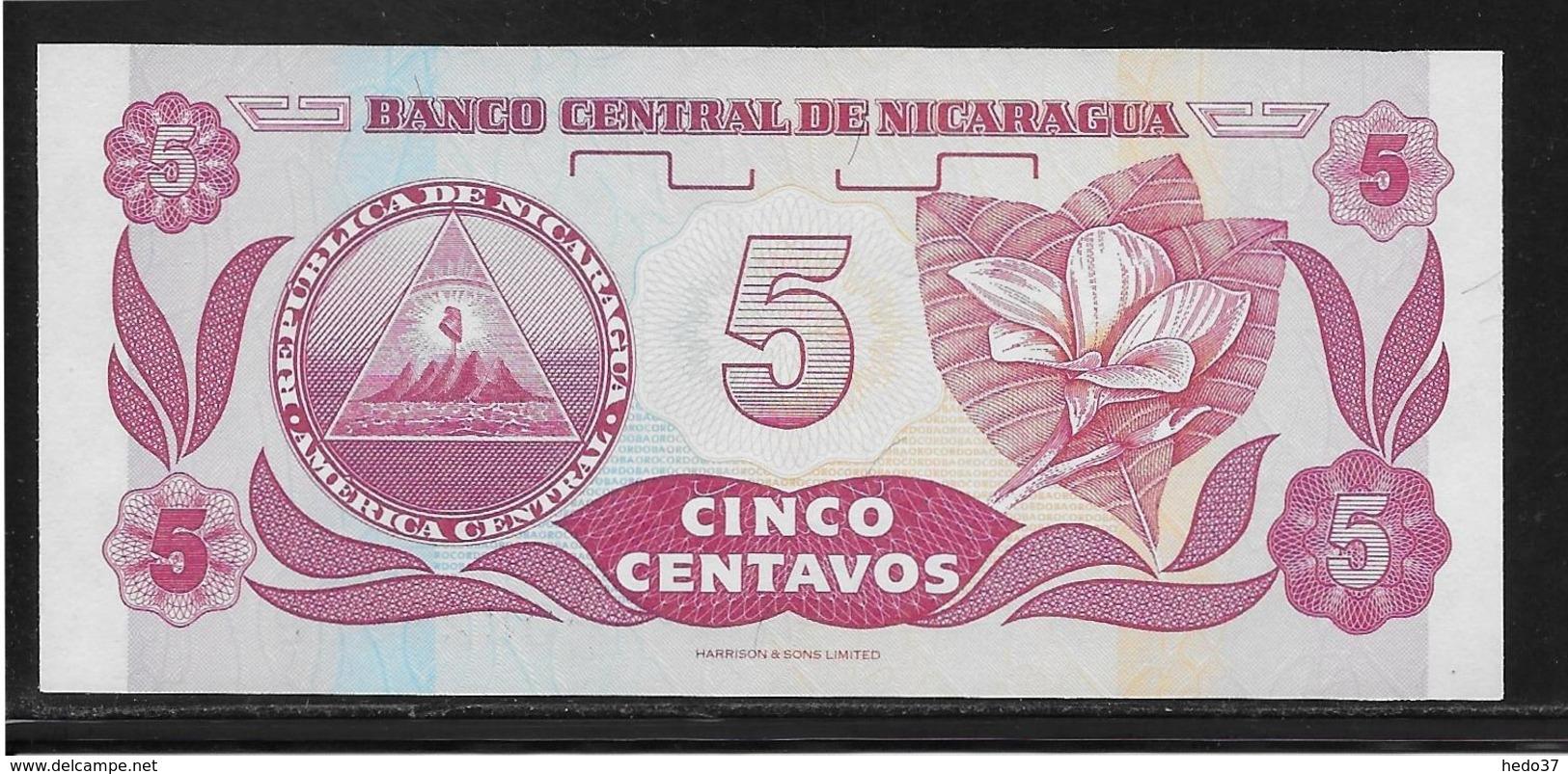 Nicaragua - 5 Centavos - Pick N°168 - NEUF - Nicaragua
