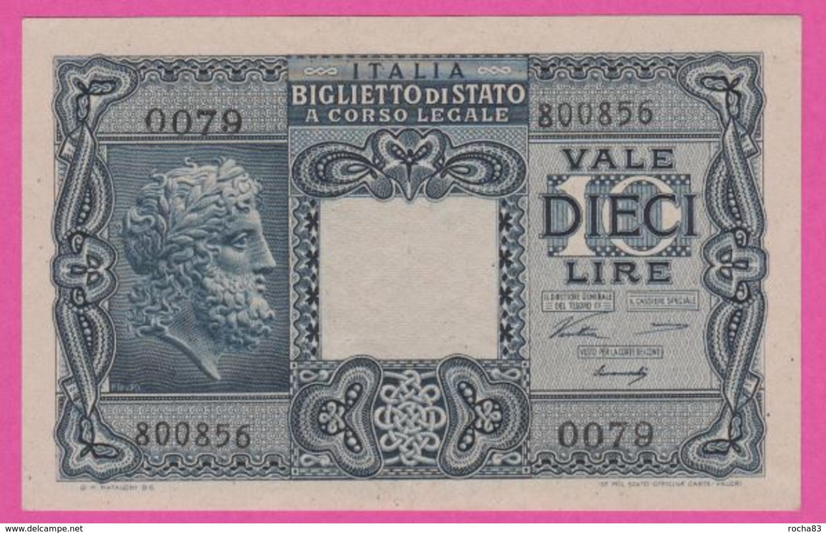 Billet - ITALIE 10 Lires Du 23 11 1944 - Pick 32a - Bleu - Italia – 10 Lire