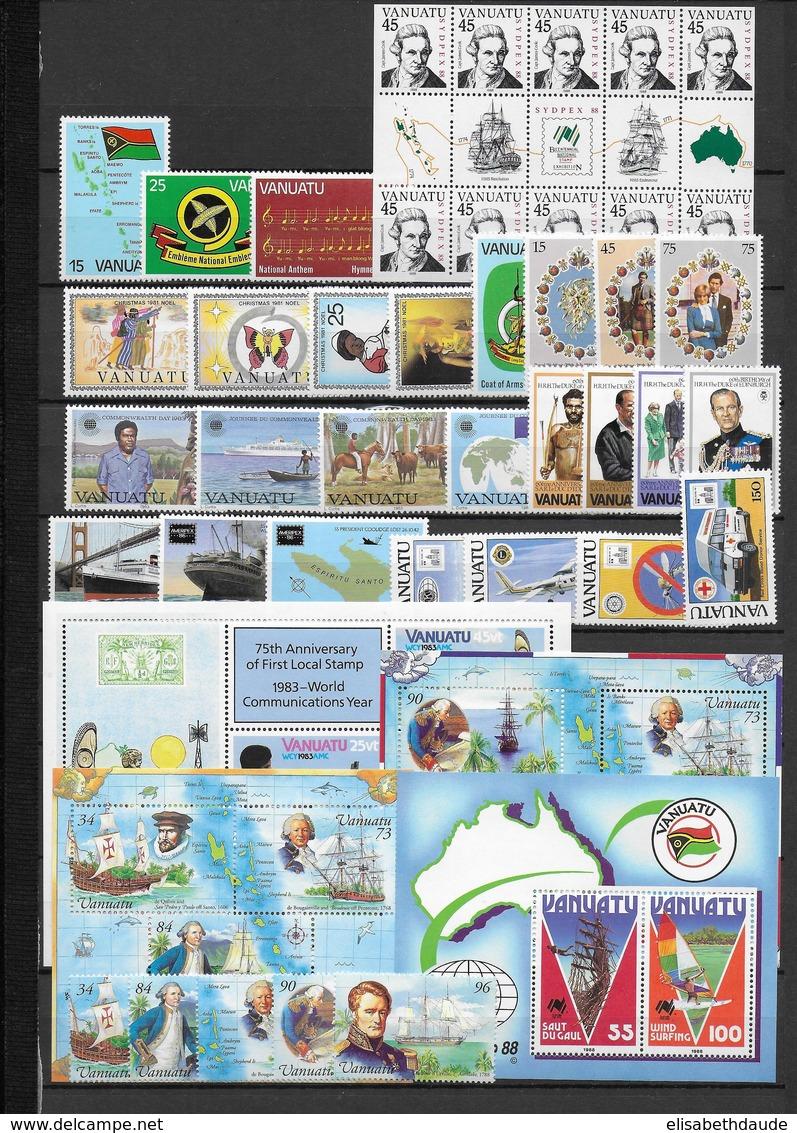 VANUATU - PETITE COLLECTION MODERNE ** - COTE YVERT = 107 EUR. - Vanuatu (1980-...)