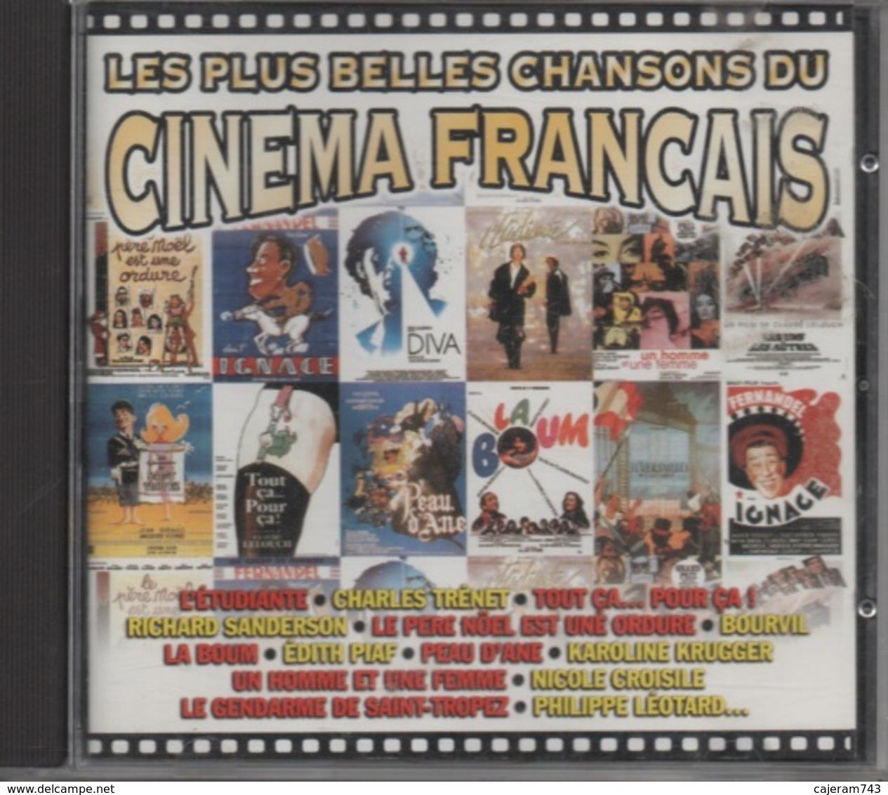 CD. LES PLUS BELLES CHANSONS DU CINEMA FRANCAIS. Richard SANDERSON - BOURVIL - Geneviève GRAD - Guy MARCHAND -Edith PIAF - Filmmusik