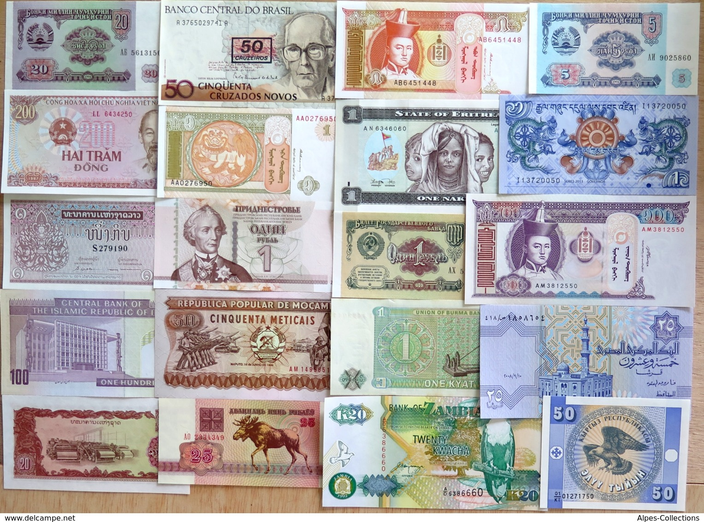 015 - LOT De 20 BILLETS ETRANGERS - SPL à NEUF - Bankbiljetten