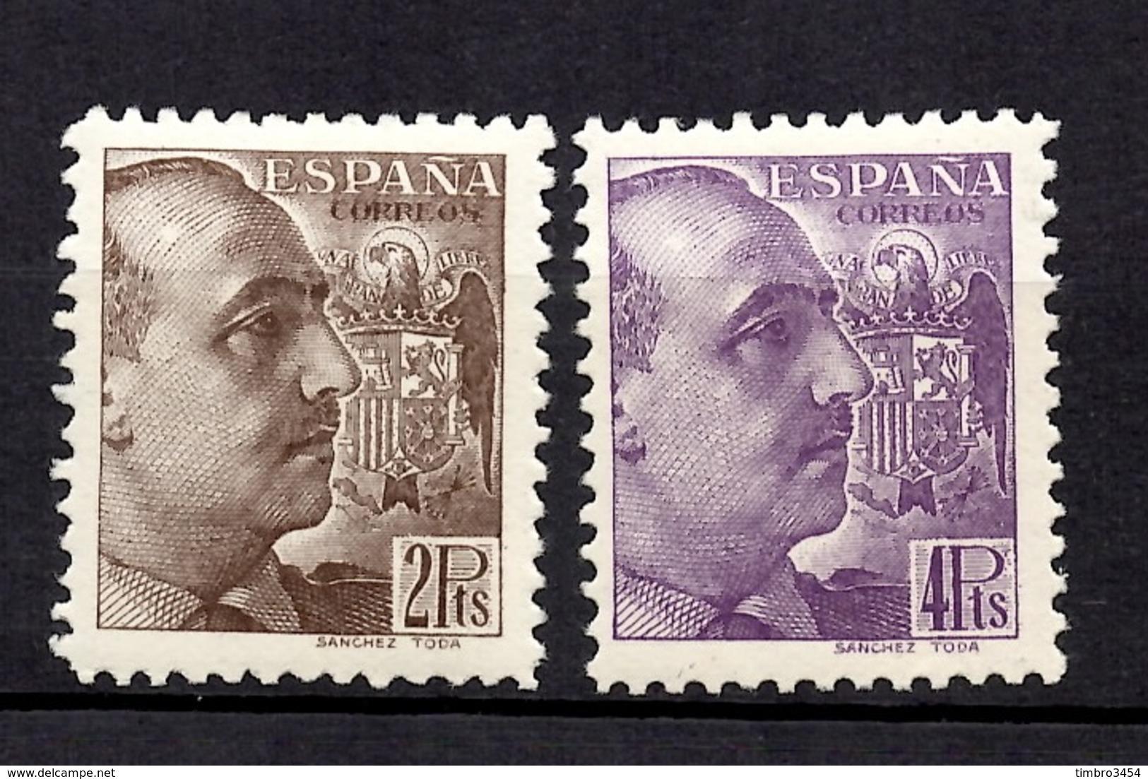 Espagne YT N° 673/674 Neufs *. Gomme D'origine. B/TB. A Saisir! - 1931-50 Neufs