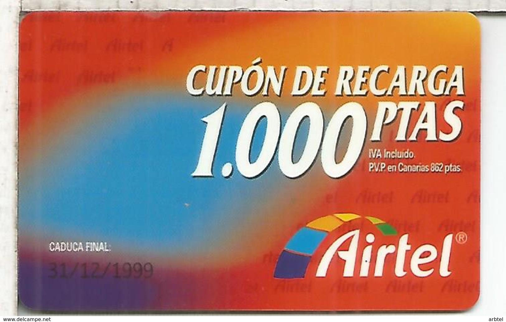 AIRTEL 100 PESETAS - Airtel