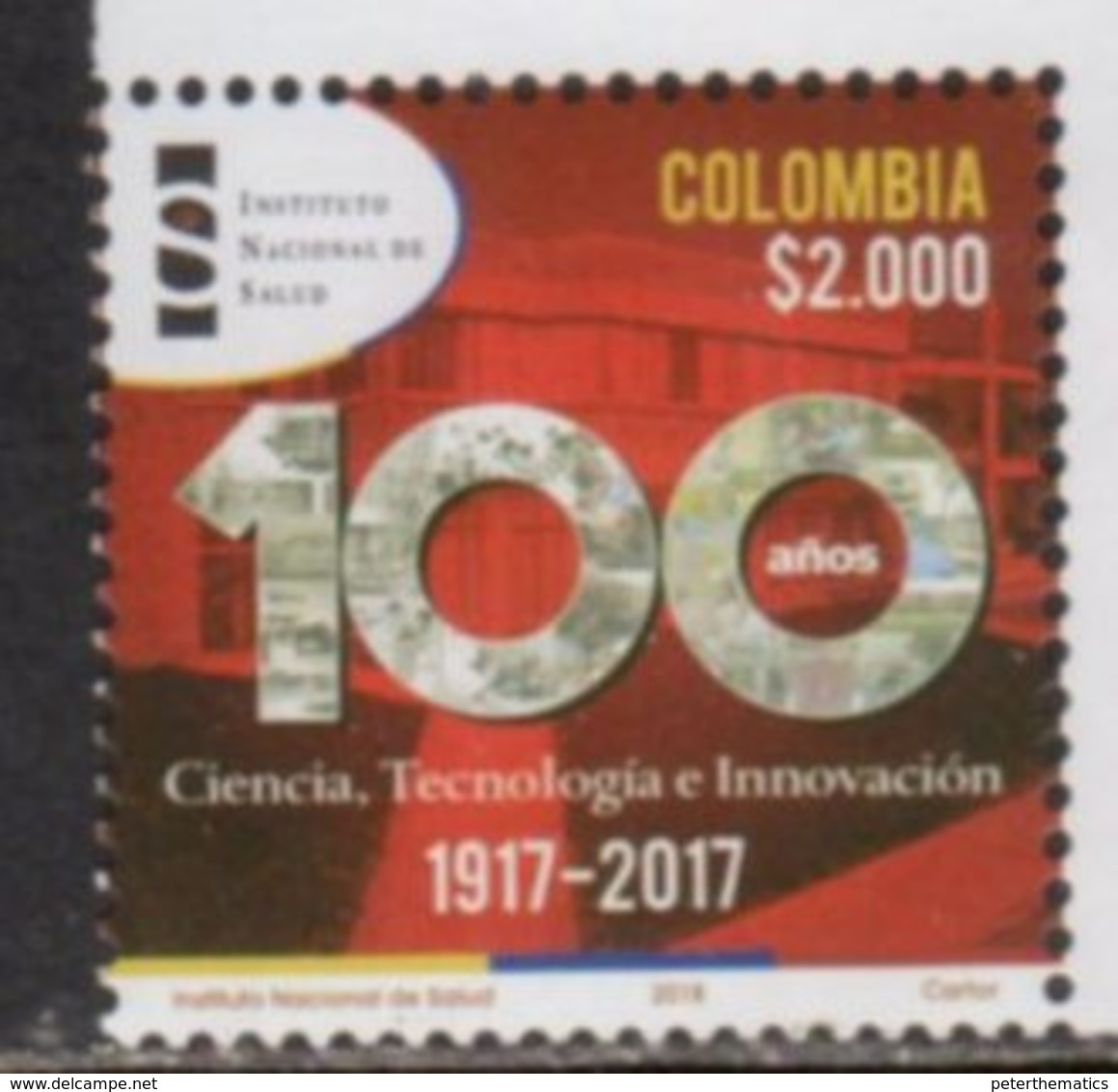 COLOMBIA, 2017, MNH, HEALTH, NATIONAL HEALTRH INSTITUTE, SCIENCE, TECHNOLOGY, INNOVATION, 1v - Health
