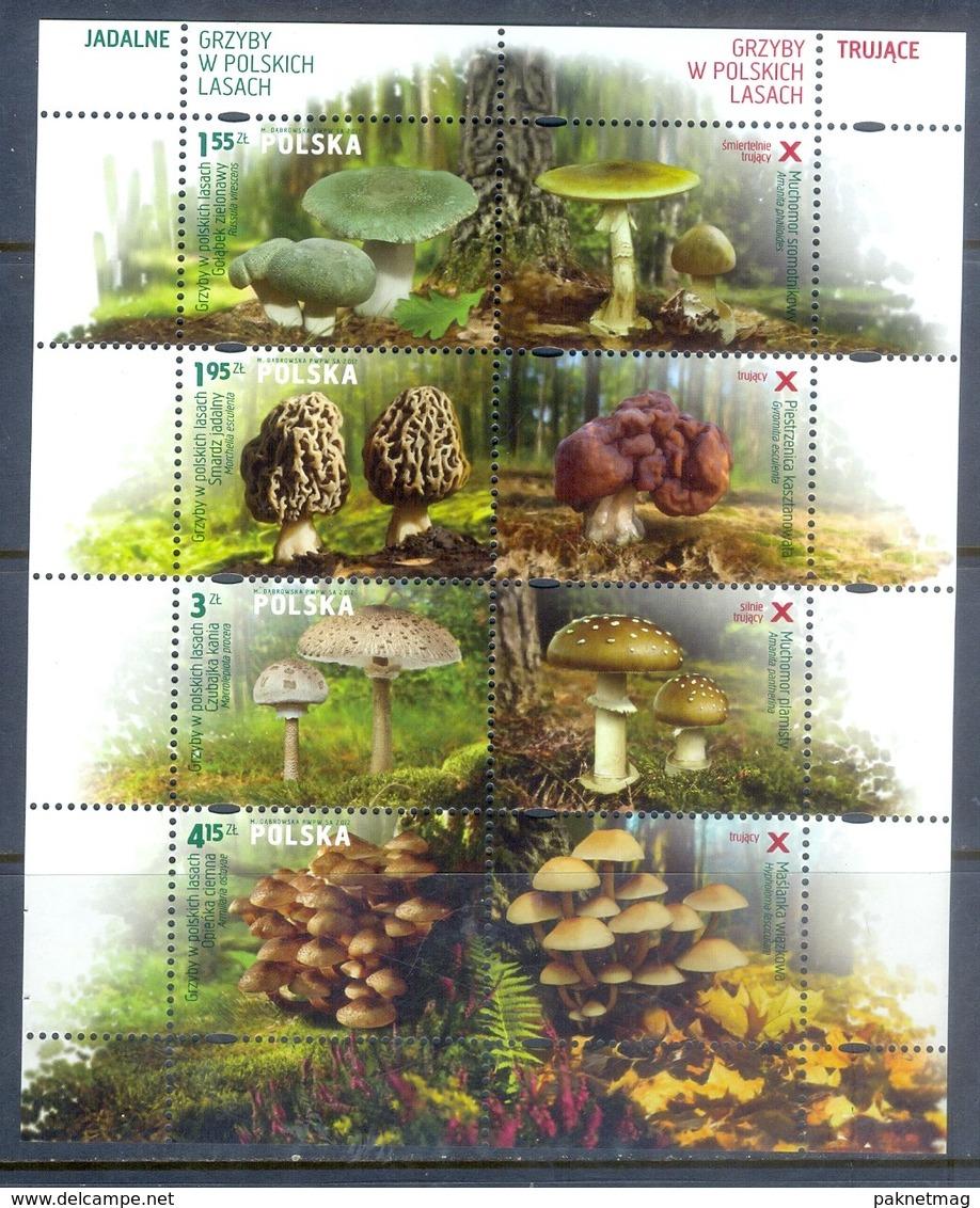 H72- Poland 2014 Mushrooms S/Sheet. - Champignons