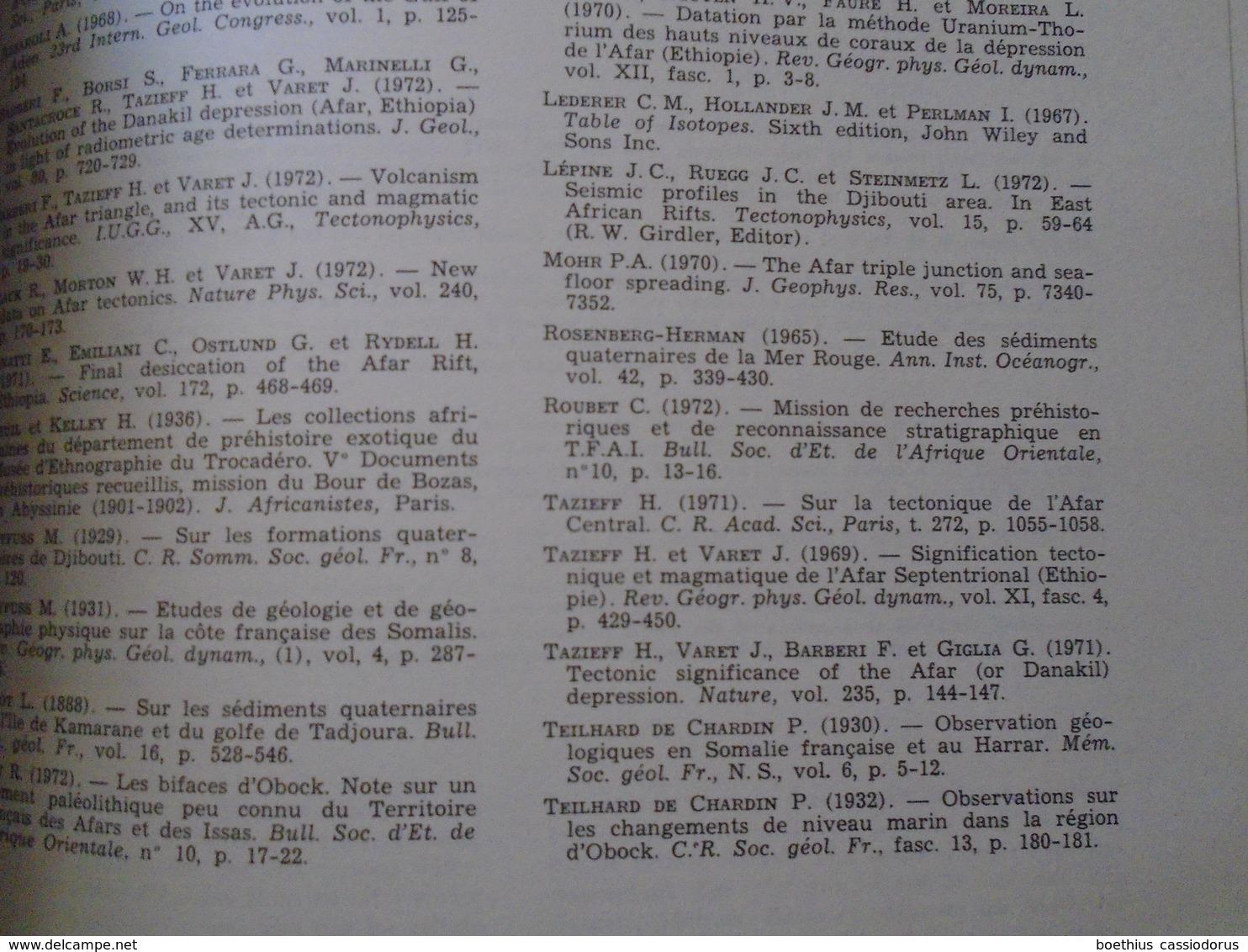 L'AFAR NUMERO SPECIAL AVEC CNRS GEOGRAPHIE PHYSIQUE ET GEOLOGIE DYNAMIQUE 1973 - Wetenschap