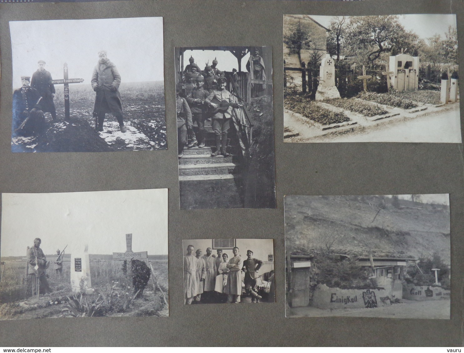 MILITARIA  GUERRE 14/18 ARMEE ALLEMANDE SOLDATS LOT 10  PHOTOS RUINES BOMBE HOPITAL CROIX ROUGE TOMBE CIMETIERE C - War, Military