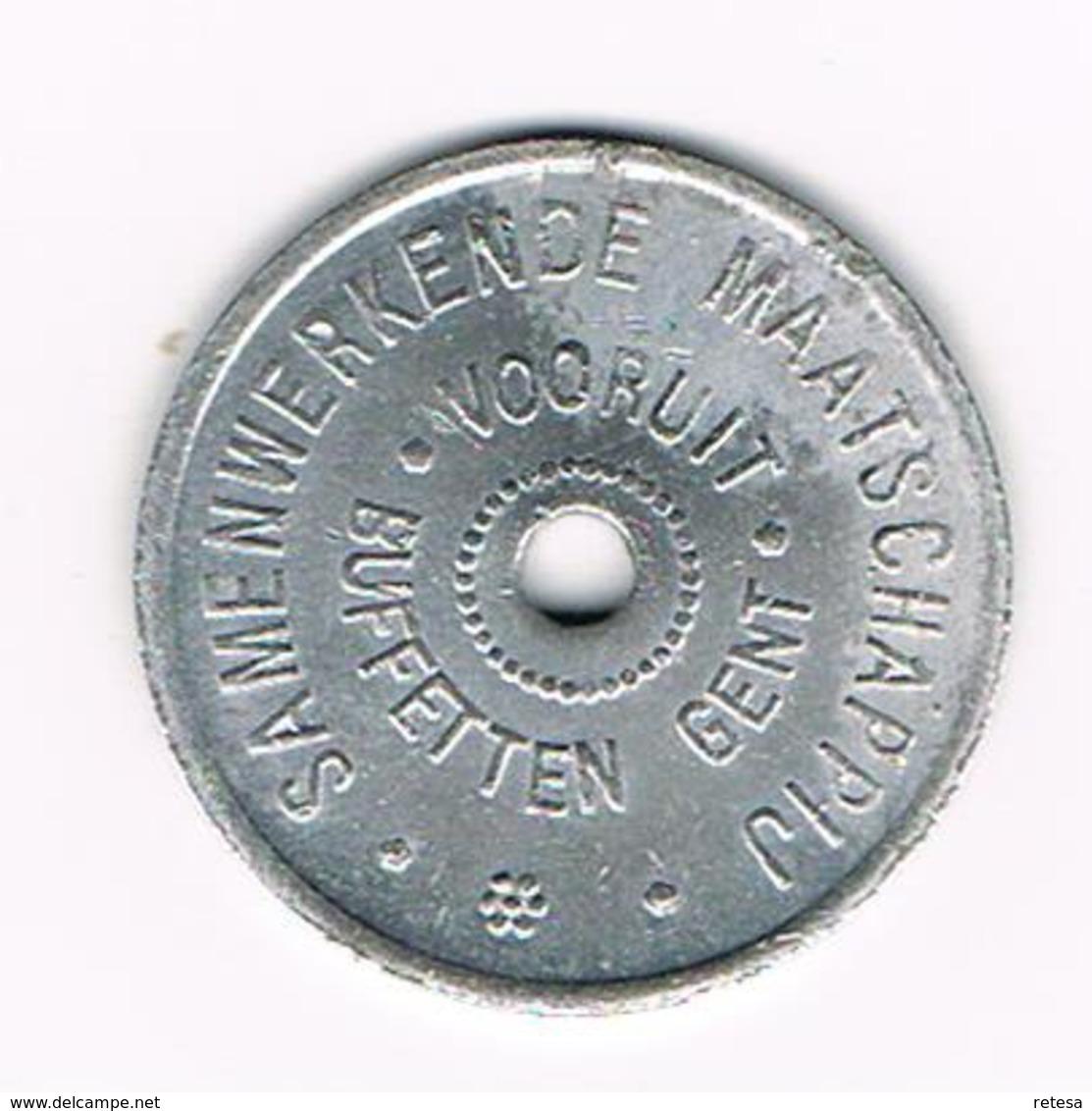 &   SAMENWERKENDE  MAATSCHIJ  VOORUIT BUFETTEN  GENT 12 -    1880 - Noodgeld