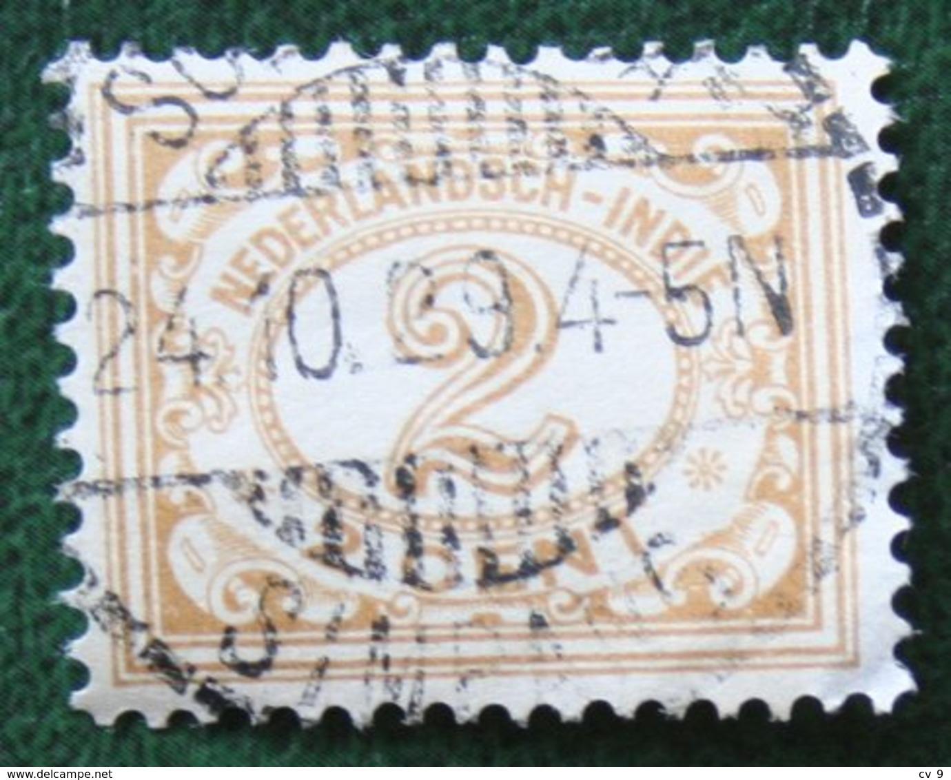 Read 2 Ct Cijfer NVPH 101 1912-1930 Gestempeld / Used INDIE / DUTCH INDIES - Netherlands Indies