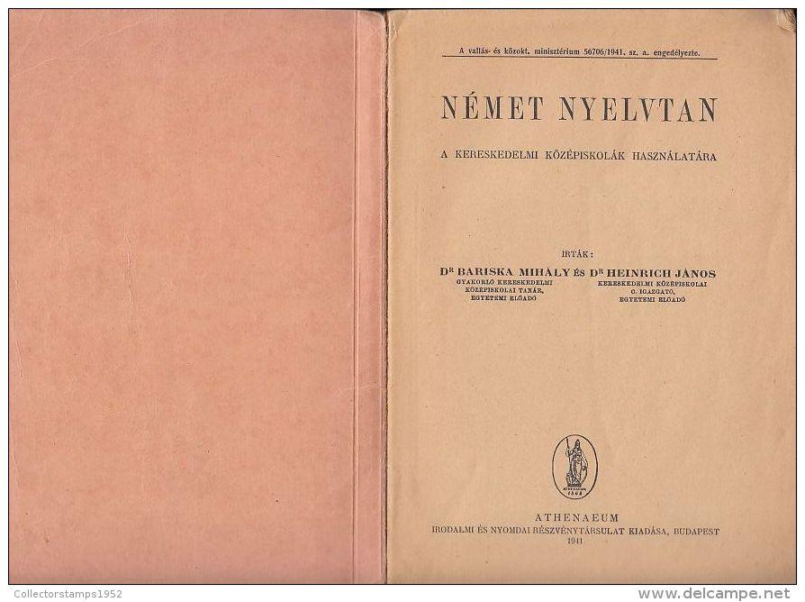 6506FM- GERMAN LANGUAGE GRAMMAR, 120 PAGES, SCHOOL BOOK, HUNGARIAN, 1941, HUNGARY - Bücher, Zeitschriften, Comics