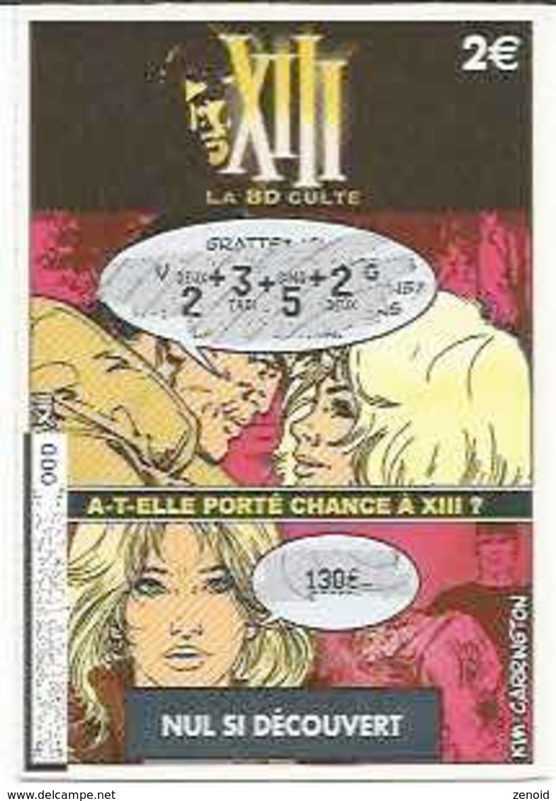 "Ticket FdJ ""XIII - Kim Carrington"" - XIII"