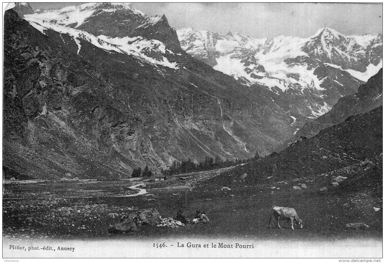 V15033 Cpa 74 La Gura Et Le Mont Pourri - Frankrijk