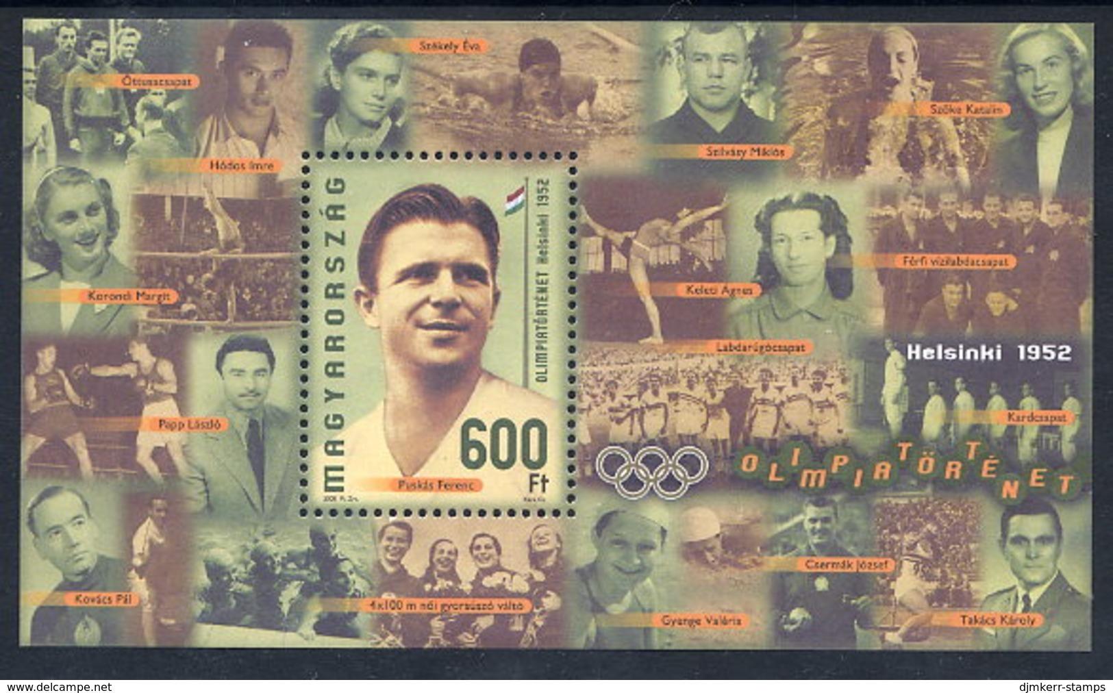 HUNGARY 2008 Olympic Medal Winner Ferenc Puskas Block MNH / **.  Michel Block 323 - Hungary