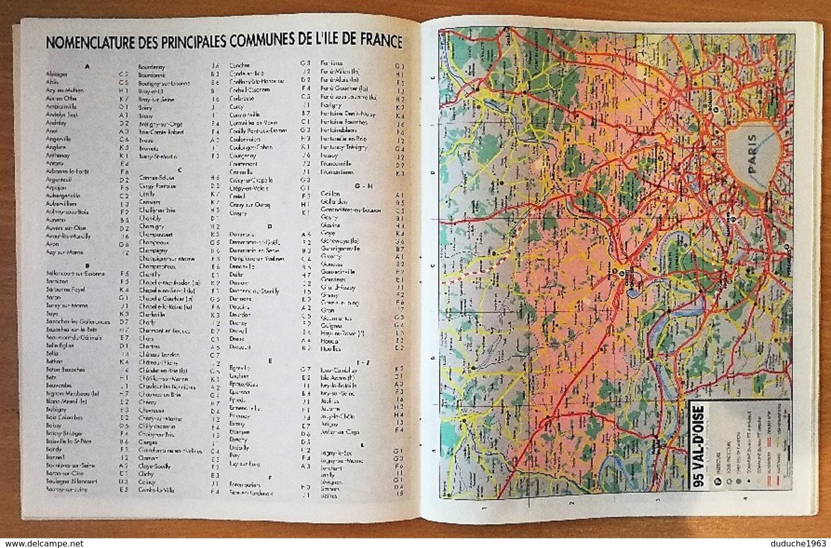 Calendrier La Poste - Almanach: 95. Val D'Oise 1995. Plan Paris,RER,métro,banlieue - Calendriers