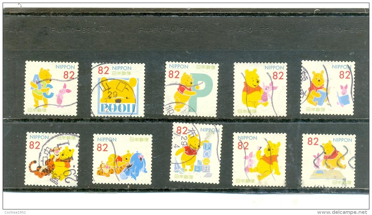 2017 JAPON Y & T N° Xxxx à Xxxx ( O ) Winnie The Pooh - 1989-... Emperador Akihito (Era Heisei)