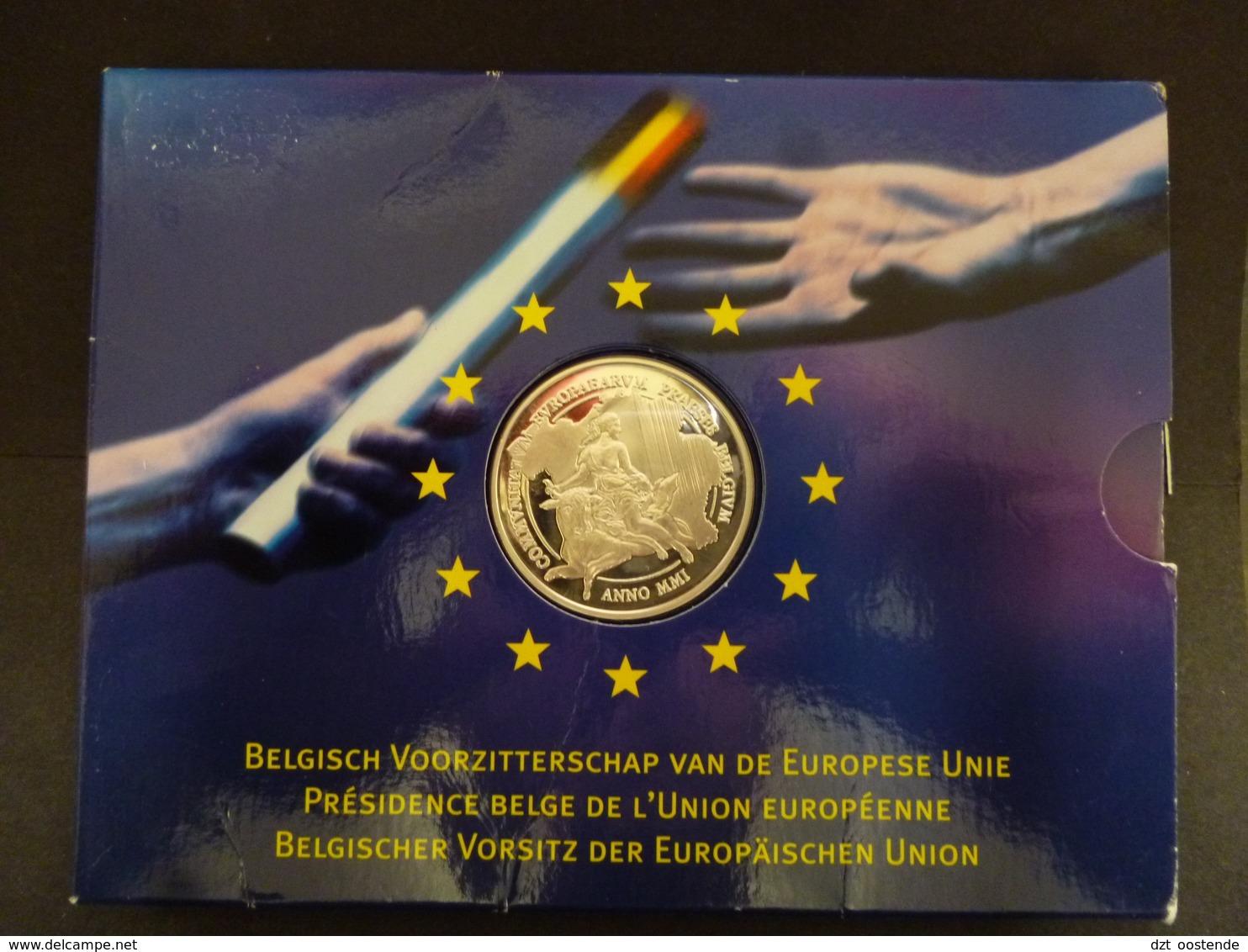 BELGIUM PROOFSET 500 FRANK JAAR 2001  EUROPESE UNIE - 08. 500 & 5000 Francs