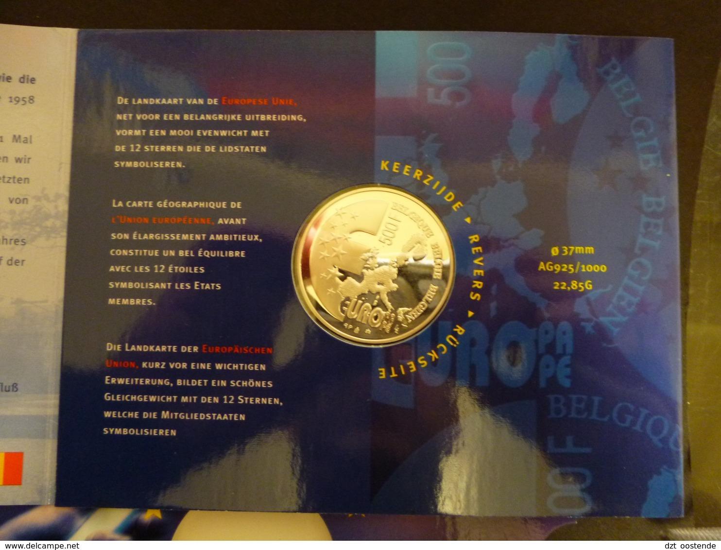 BELGIUM PROOFSET 500 FRANK JAAR 2001  EUROPESE UNIE - 1993-...: Albert II