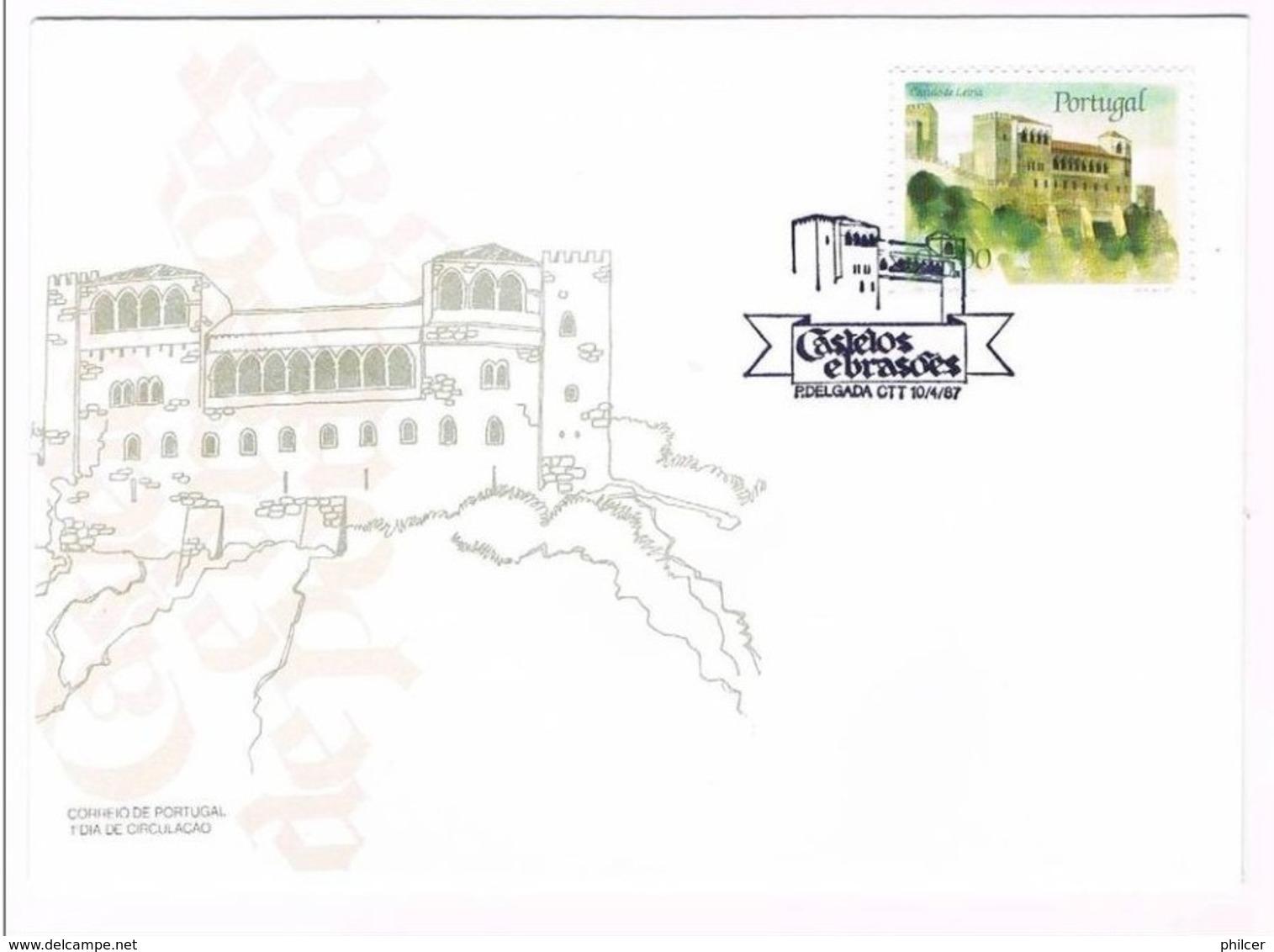 Portugal, 1987, # 1799, FDC Castelos E Brasões De Portugal - FDC