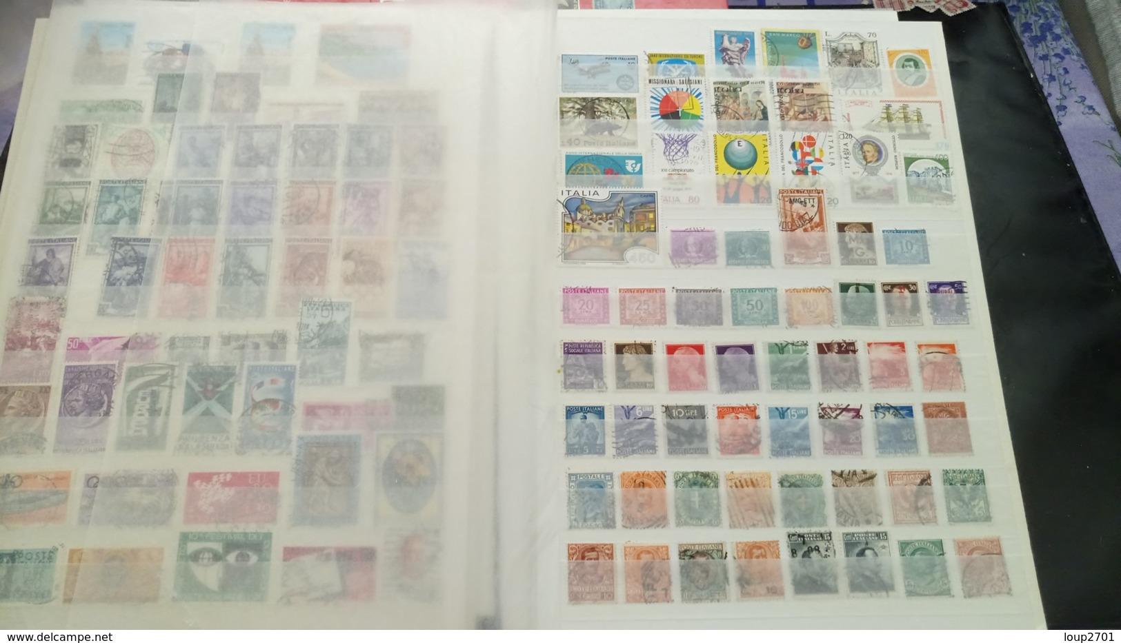 F0947 LOT FEUILLES TIMBRES ITALIE NEUFS / OB A TRIER BELLE COTE DÉPART 10€ - Sammlungen (im Alben)
