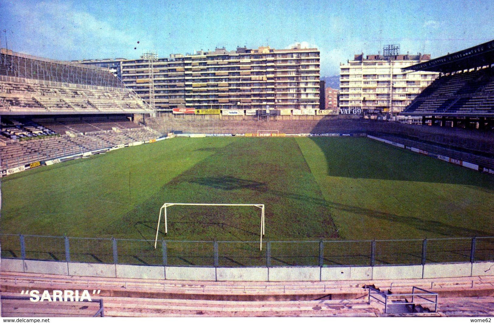 POSTAL ESTADIO - STADIUM POSTCARD - BARCELONA - SARRIA - WORLD CUP 1982 - Fútbol