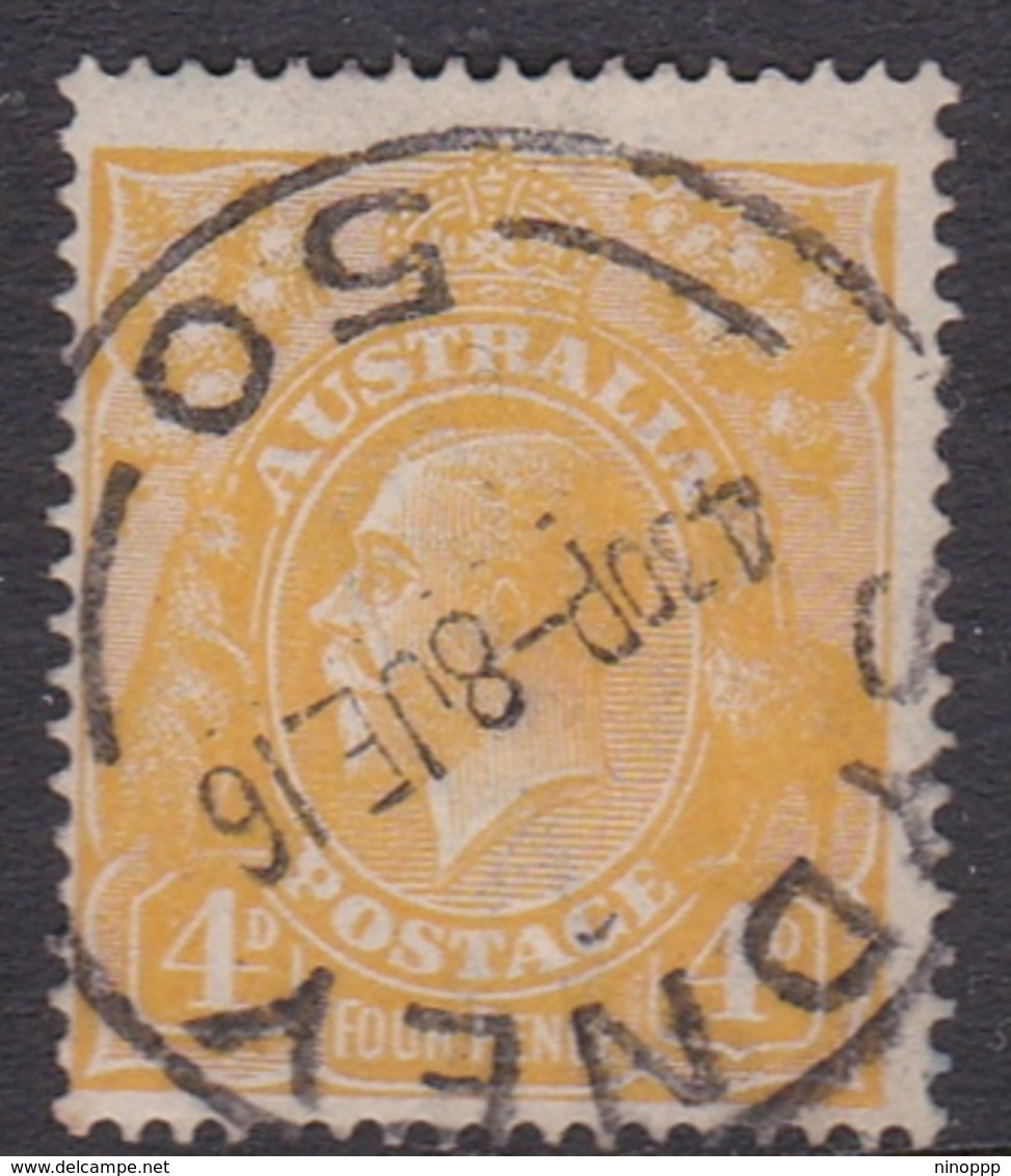 Australia SG 22c 1915 King George V,4d Lemon 18.00, Used - 1913-36 George V : Hoofden