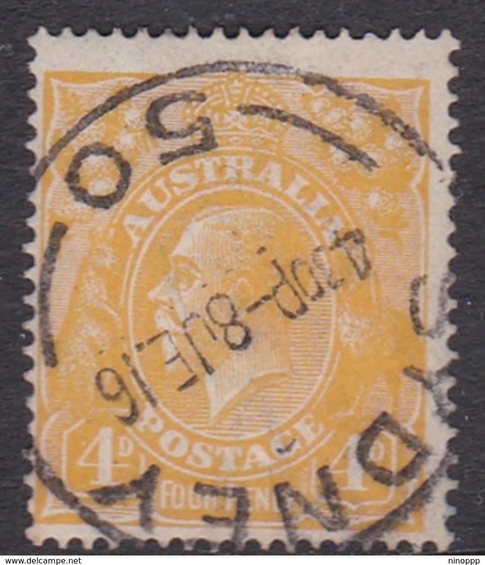 Australia SG 22c 1915 King George V,4d Lemon 18.00, Used - Oblitérés
