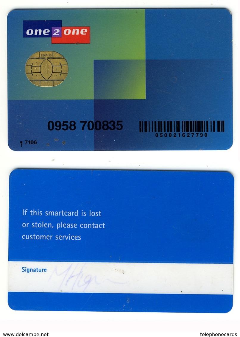 GSM SIM Card With Fix Chip___one2one Telecom UK___blue___RARE - Royaume-Uni
